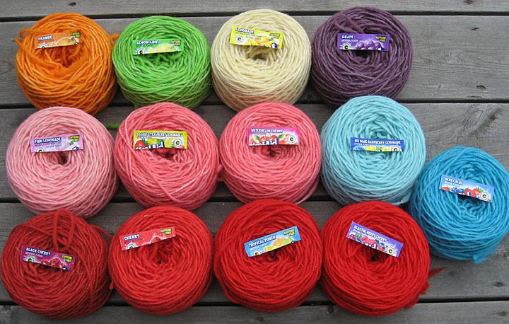 Freshisle fibers american kool aid dyeing